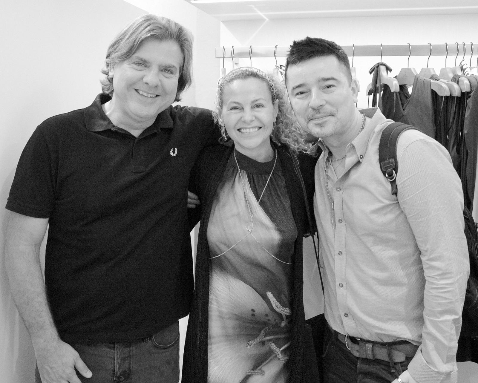 Trio bacanudo: Dudu Garcia, Yara Figueiredo e Carlos Tufvesson