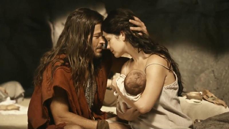 Cena do nascimento de Moisés, no início da trama: tentatica de inserir passagens bíblicas em contexto coloquial típico das telenovelas brasileiras (Foto: Divulgação)