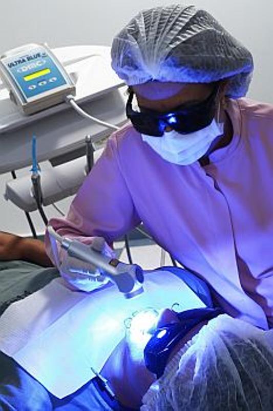 Aplicação a laser (Foto: Divulgação)