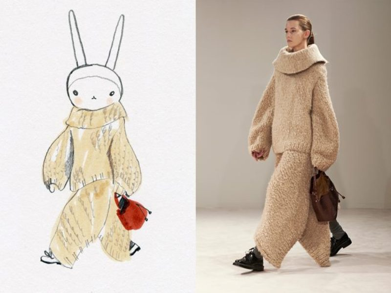 Top model peludinha: Fifi Lapin na catwalk da Teh Row