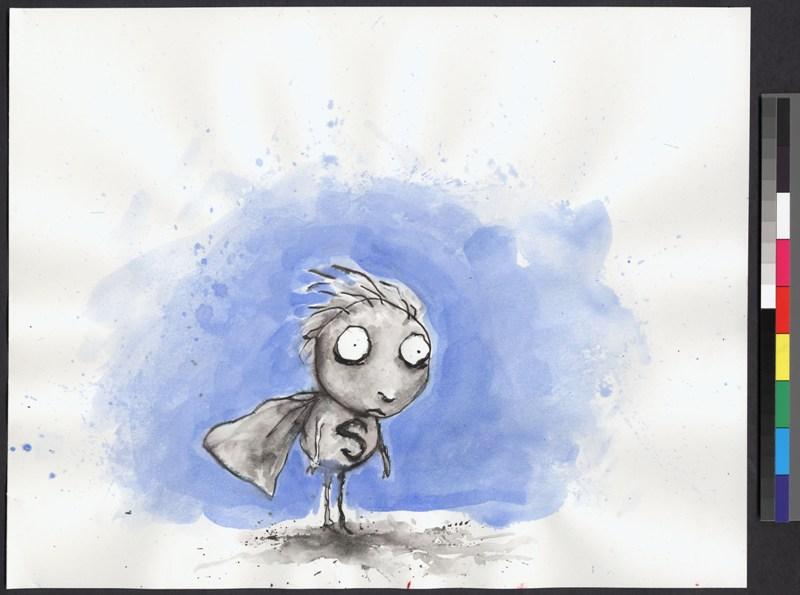 expo Tim Burton 1363 Sem t+¡tulo (The World of Stainboy ÔÇô O mundo do Menino Mancha) 1998 Pena e tinta e aquarela sobre papel (c) 2015 Tim final