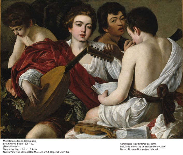 Caravaggio (Merisi, Michelangelo da (1573-1610): The Musicians, c. 1595. New York, Metropolitan Museum of Art*** Permission for usage must be provided in writing from Scala. May have restrictions - please contact Scala for details. ***