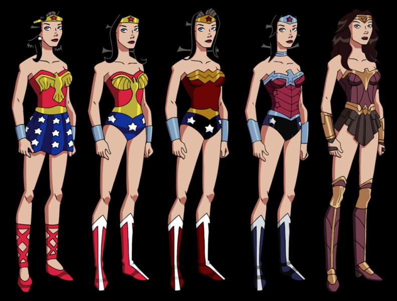 Wonder Woman varação figurino